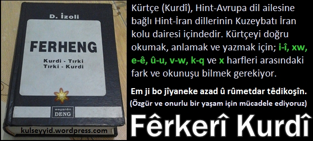 Fêrkerî Kurdî: Kürtçe Harflerin Okunuşu
